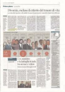 2017-05-11-corrieredellasera-210x300 Divorzio, escluso il criterio del tenore di vita
