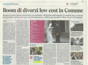 il-messaggero-5-5-2015-300x221 Boom di divorzi low cost in Comune
