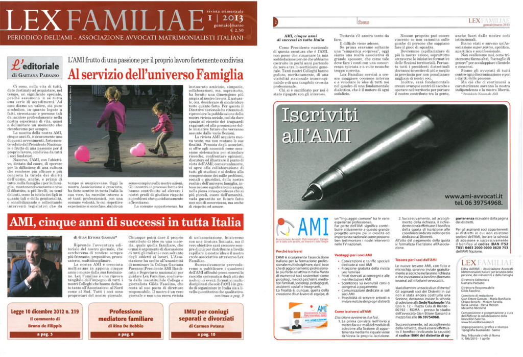 lexFAMILIAE-n1-2013-1024x698 AMI, cinque anni di successi in tutta Italia