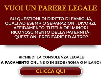 Consulenza legale online - Diritto di Famiglia